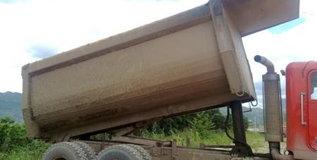 以Hardox500耐磨板为原材料制造车身的装载车