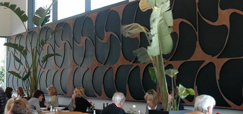 用hardox400耐磨板制作的艺术吸音墙图片